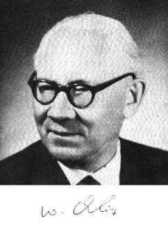 Czarnobiałe zdjęcie z podpisem profesora Władysława Orlicza